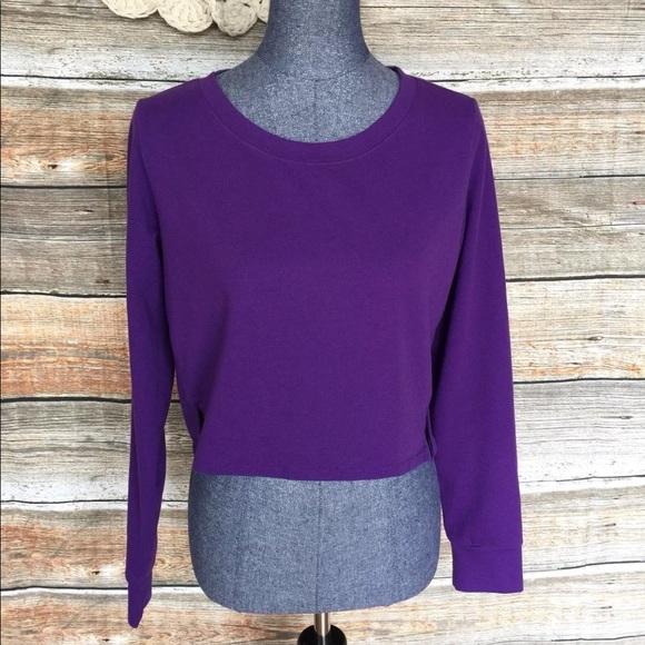 2646cb9b6 Lucy Tops | Cropped Purple Long Sleeve Sweatshirt | Poshmark